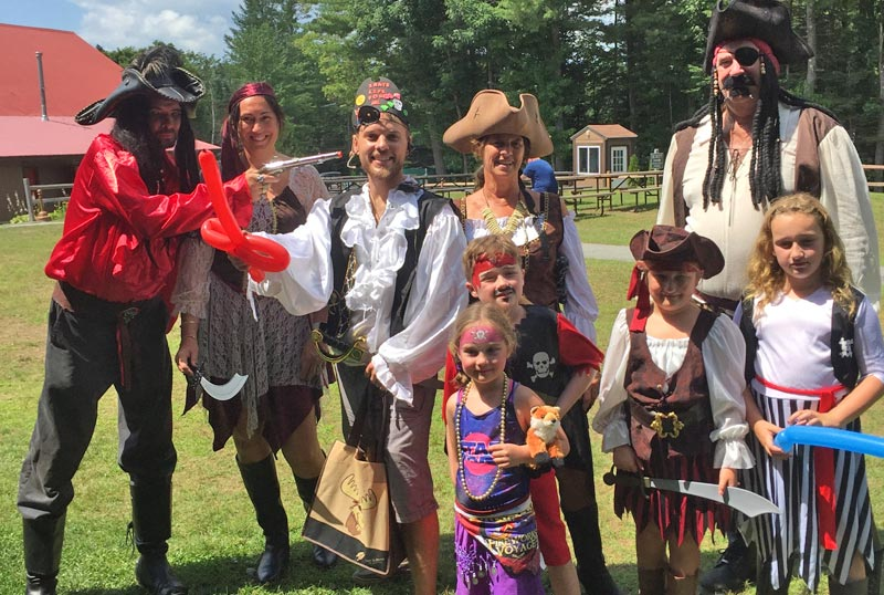 Group dressed up for Pirate Day at Moose Hillock Camping Resort