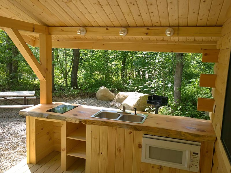 Rustic Cabin Rental at Moose Hillock Camping Resort