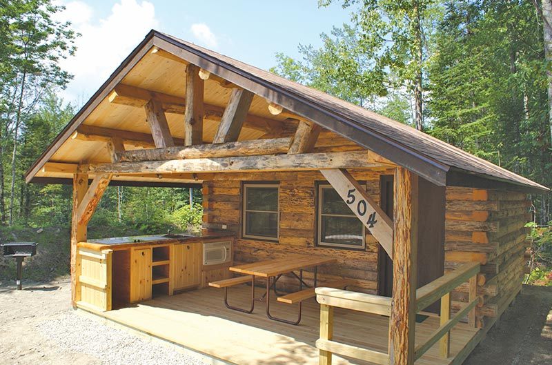 WHite Mountains, NH cabin rental at Moose Hillock Camping Resort