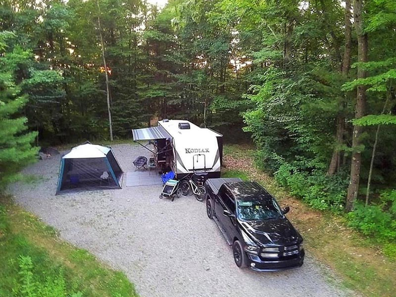Large RV campsite in Lake George, NY