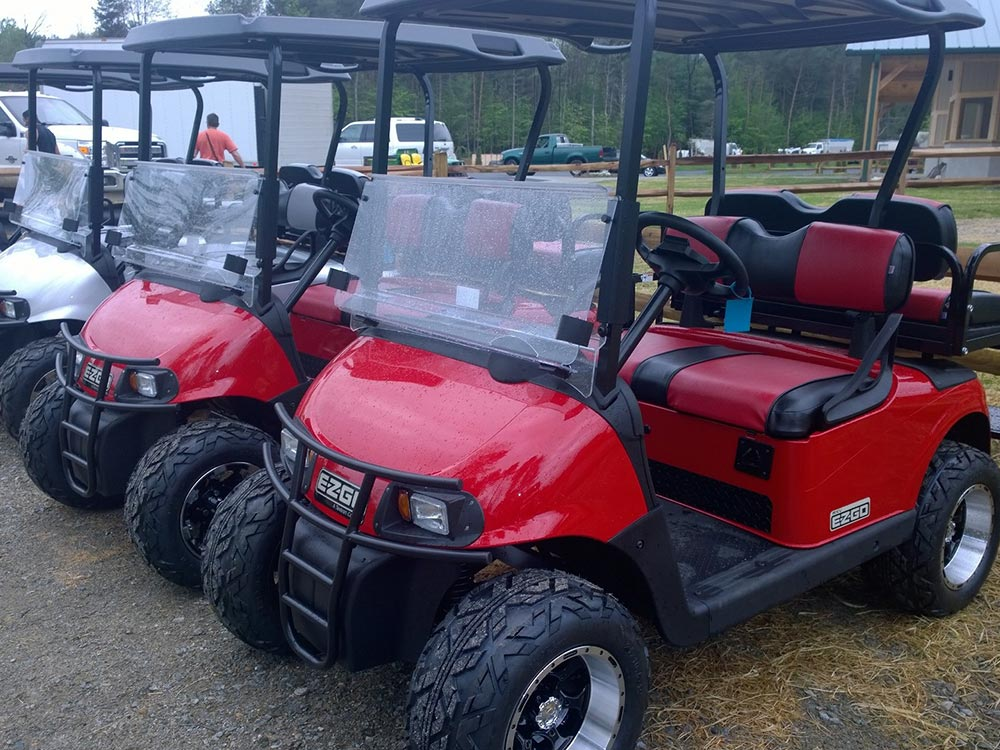 golf cart rentals at Moose Hillock Lake George RV Park