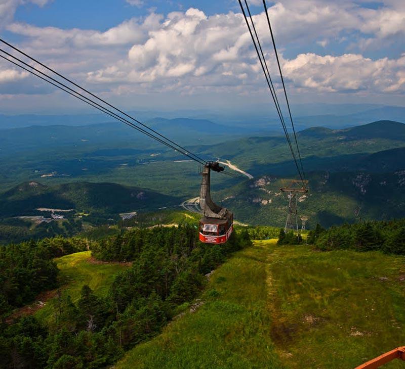 gondola during summer