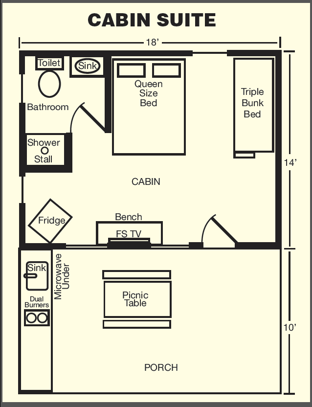 Cabin Suite Floor Plan