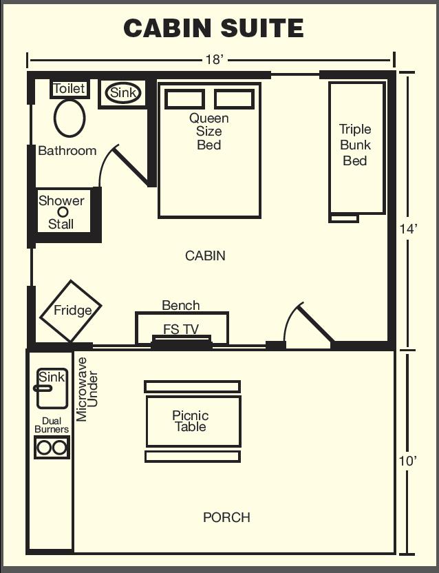 Cabin Suite Floor Plan