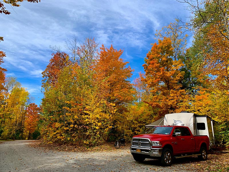 Camping site during the fall