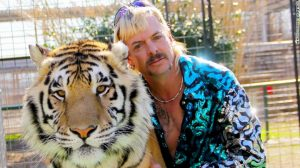 Joe Exotic Man posing with Tiger