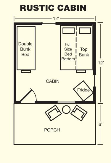 Rustic Cabin Floor Plan