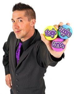 Man holding juggling balls
