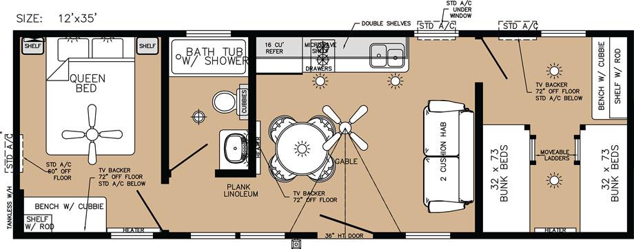 Deluxe Cabin Floor Plan