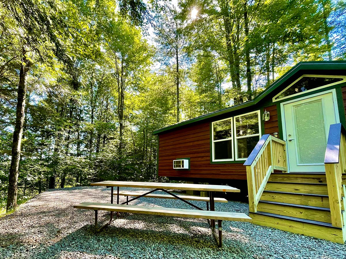 Deluxe Cabin picnic table