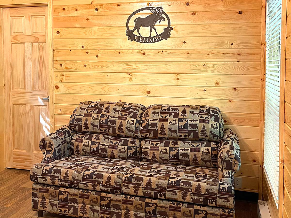Deluxe Cabin couch